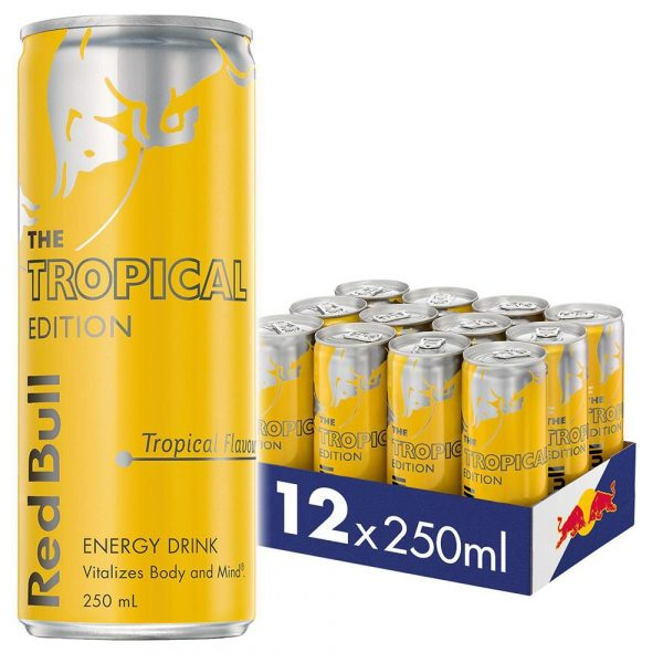 250ML REDBULL TROPICAL CAN (12)