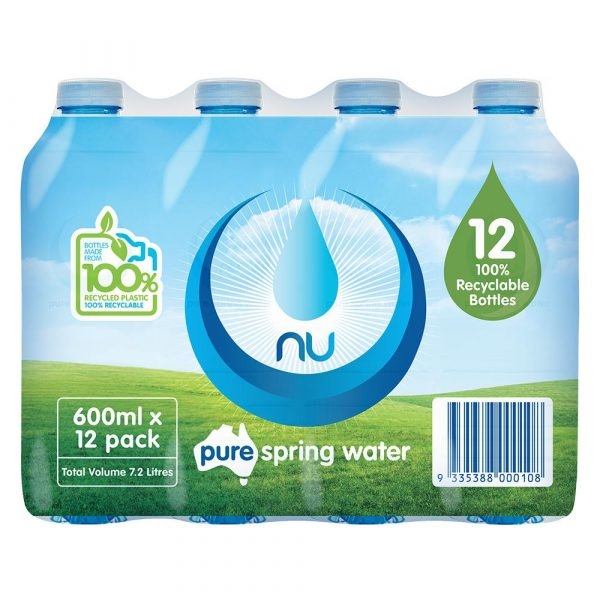 12 PACK NU PURE 600ML (12)