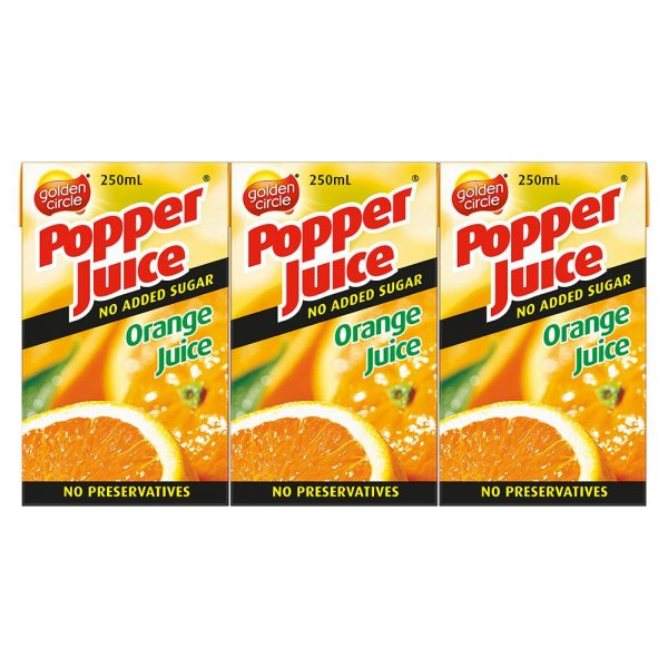 250ML G/C ORANGE 100%  POPPER (24)