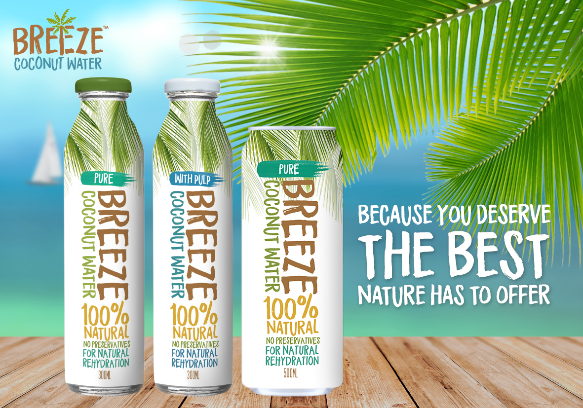breeze coconut water range
